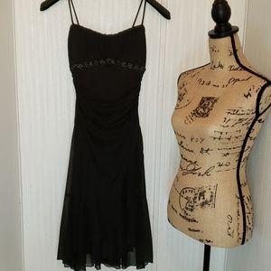 Ruby Rox Black Spaghetti Strap Dress Size Small